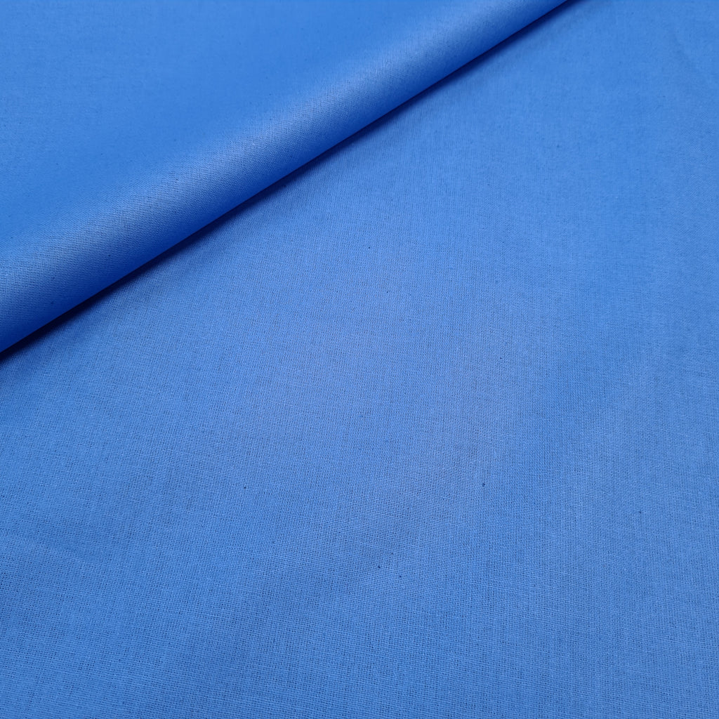 Plain Blue Cotton, sold by half metre
