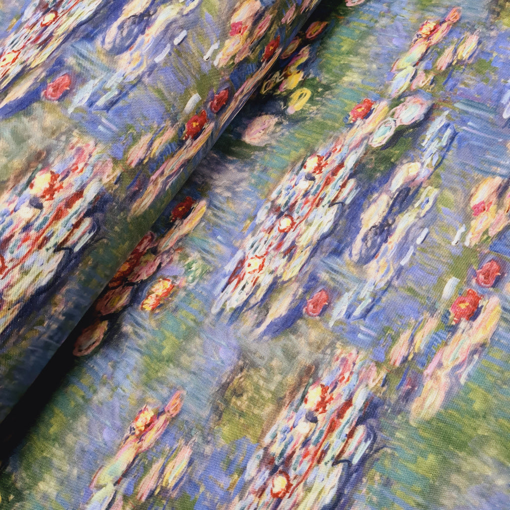 Waterproof Fabric Cloude Monet sold by half metre