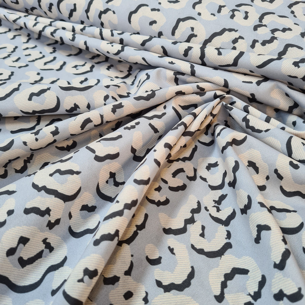Wild Grey Stretch Crepe, sold by half metre