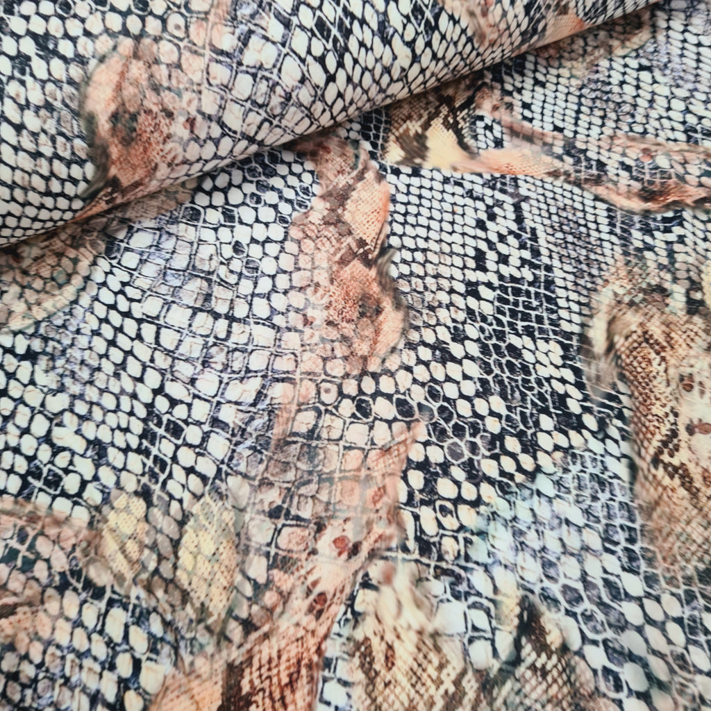 Snake Skin Stretch Woven Dress Fabric , sold by half metre