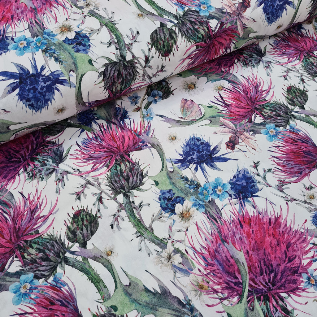 Woven Cotton Thistle, sold by half metre