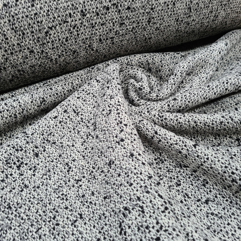 Melange Boucle Wool Fabric, sold by half metre