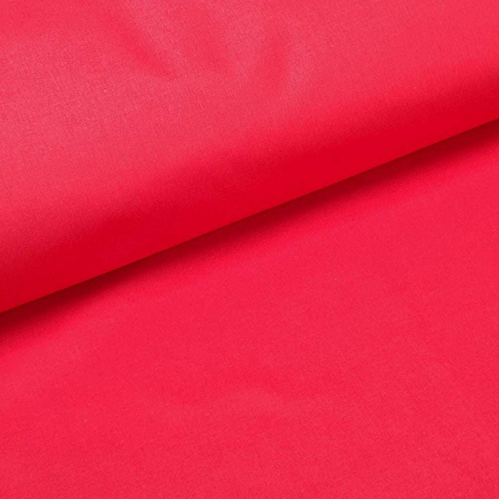 Plain Red Cotton, sold by half metre