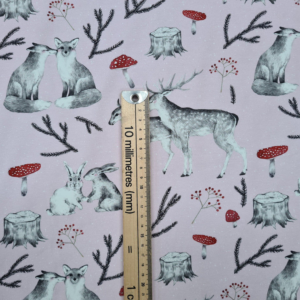 Woodland Love Blush Jersey, sold by half metre