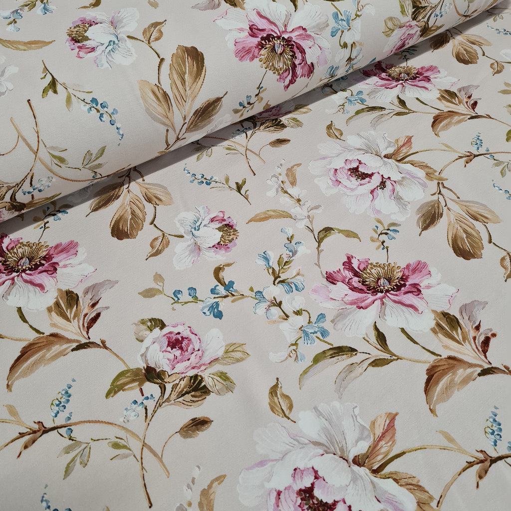 Vintage Floral French Terry Jersey, sold by half metre