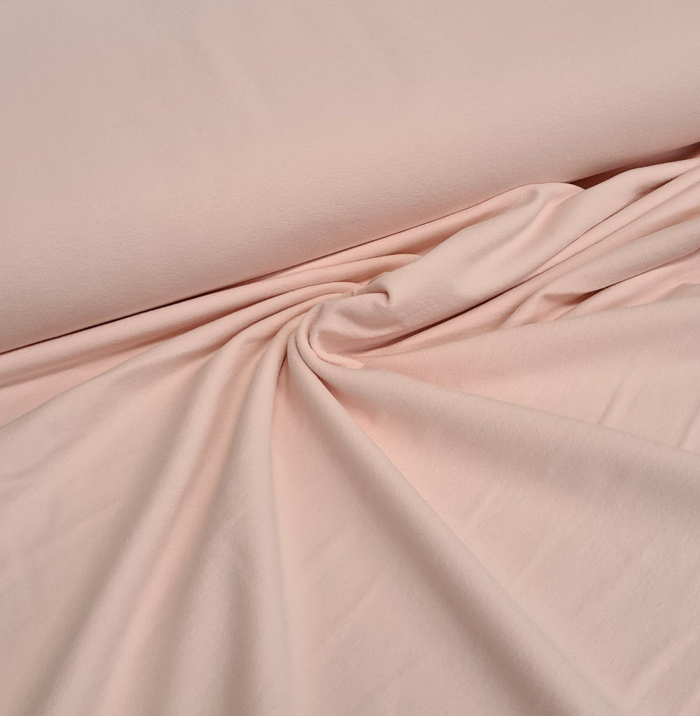 Baby Pink Plain French Terry, priced by half metre