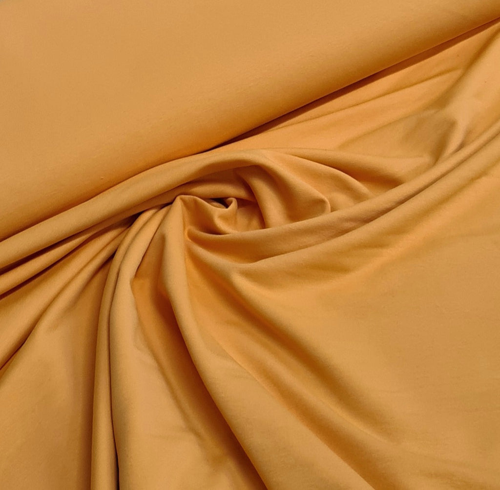 Bright Mustard Plain French Terry, sold by half metre