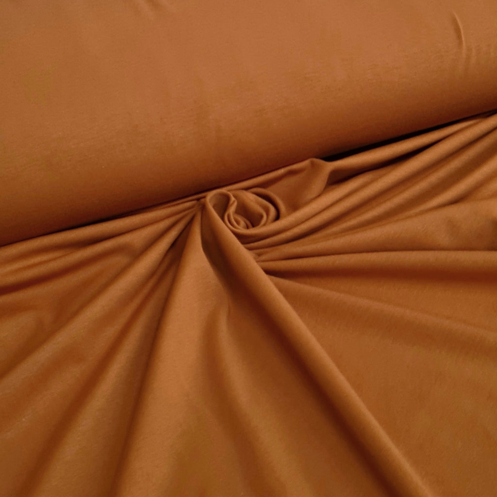 Plain Light Brown Jersey, sold by half metre