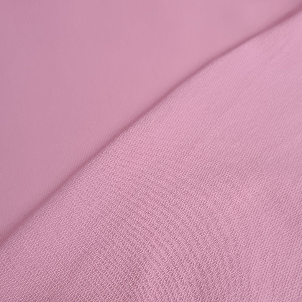 Pink Plain French Terry Jersey, sold by half metre