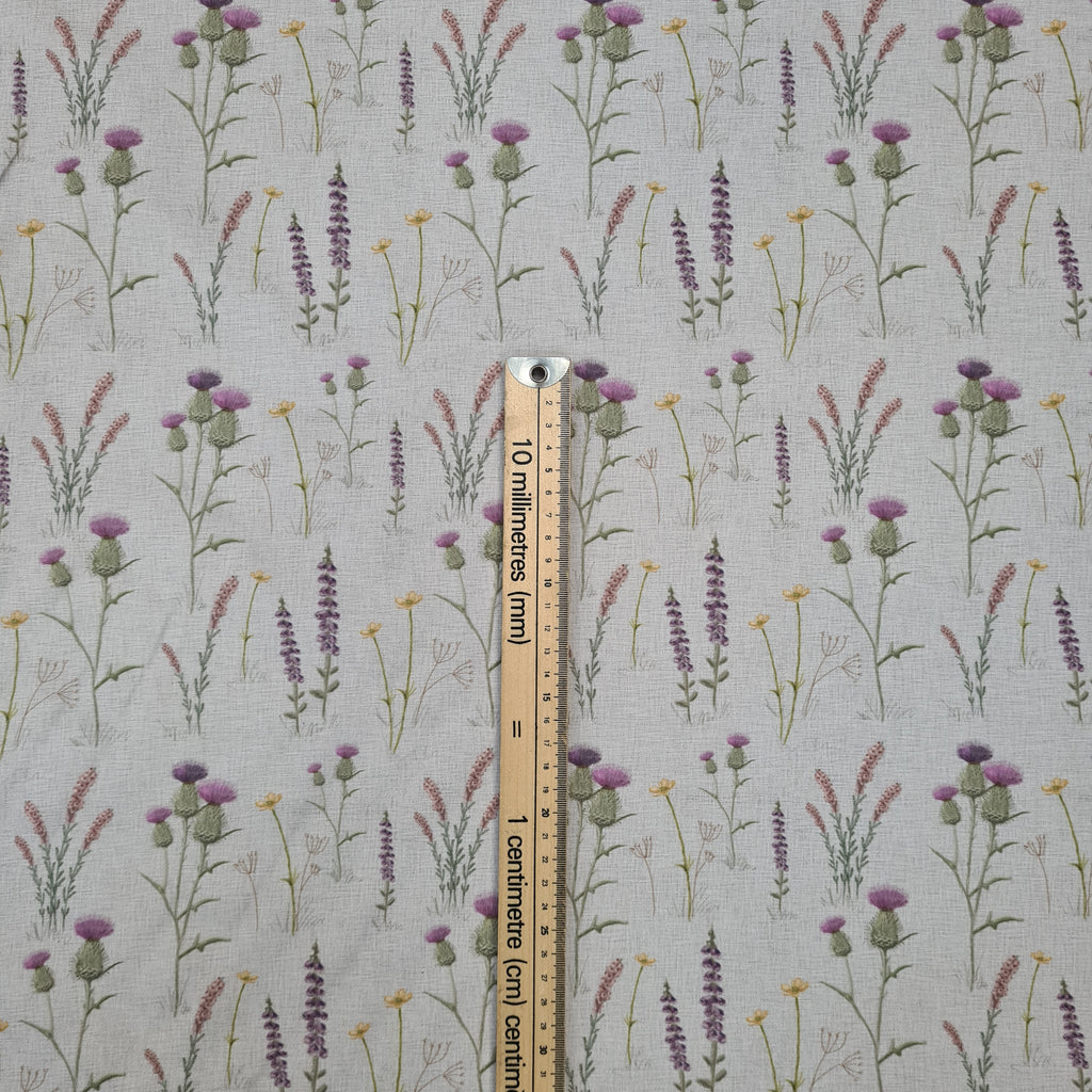Waterproof Scottish Meadow Fabric, priced by half metre