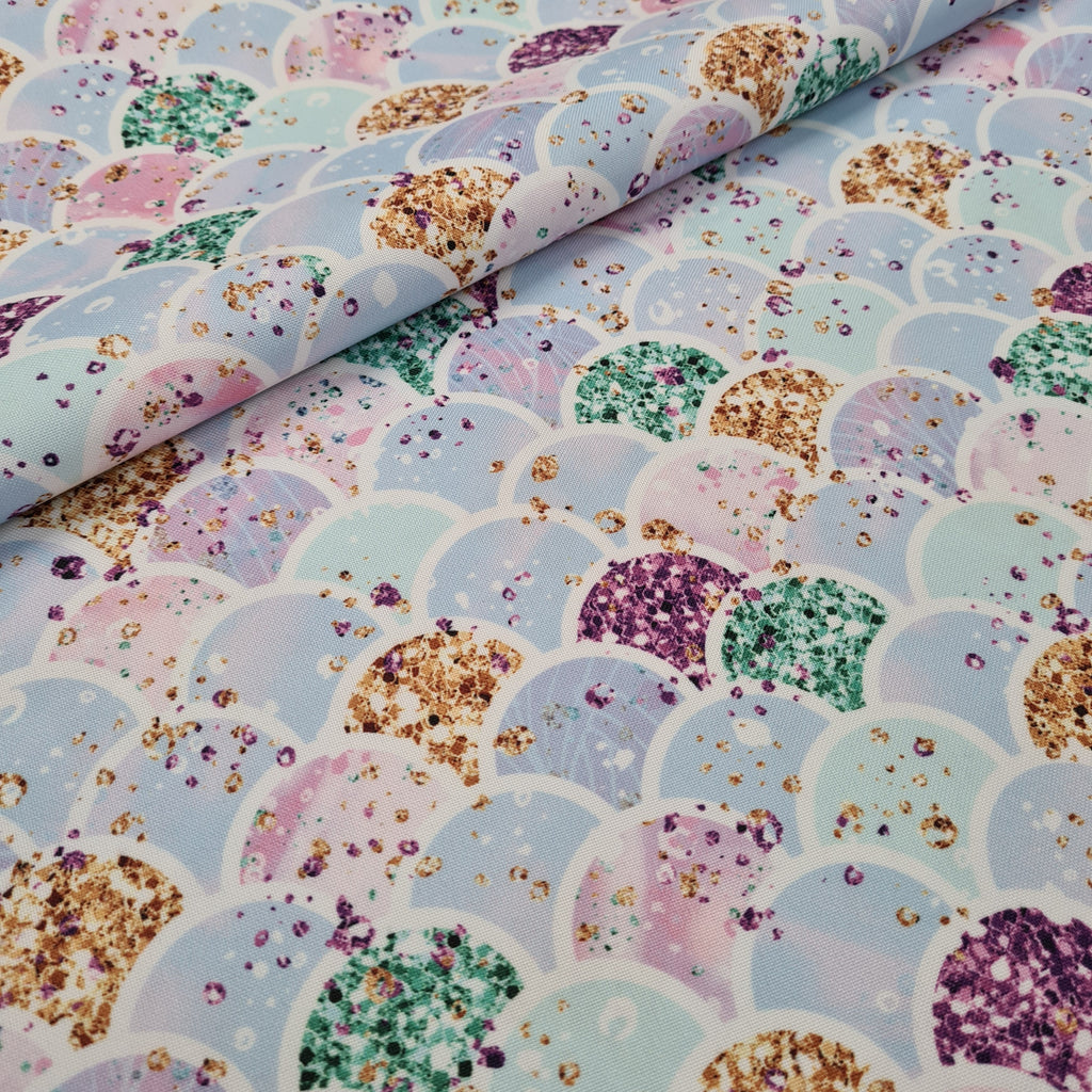Waterproof Mermaid Scales Fabric, sold by half metre