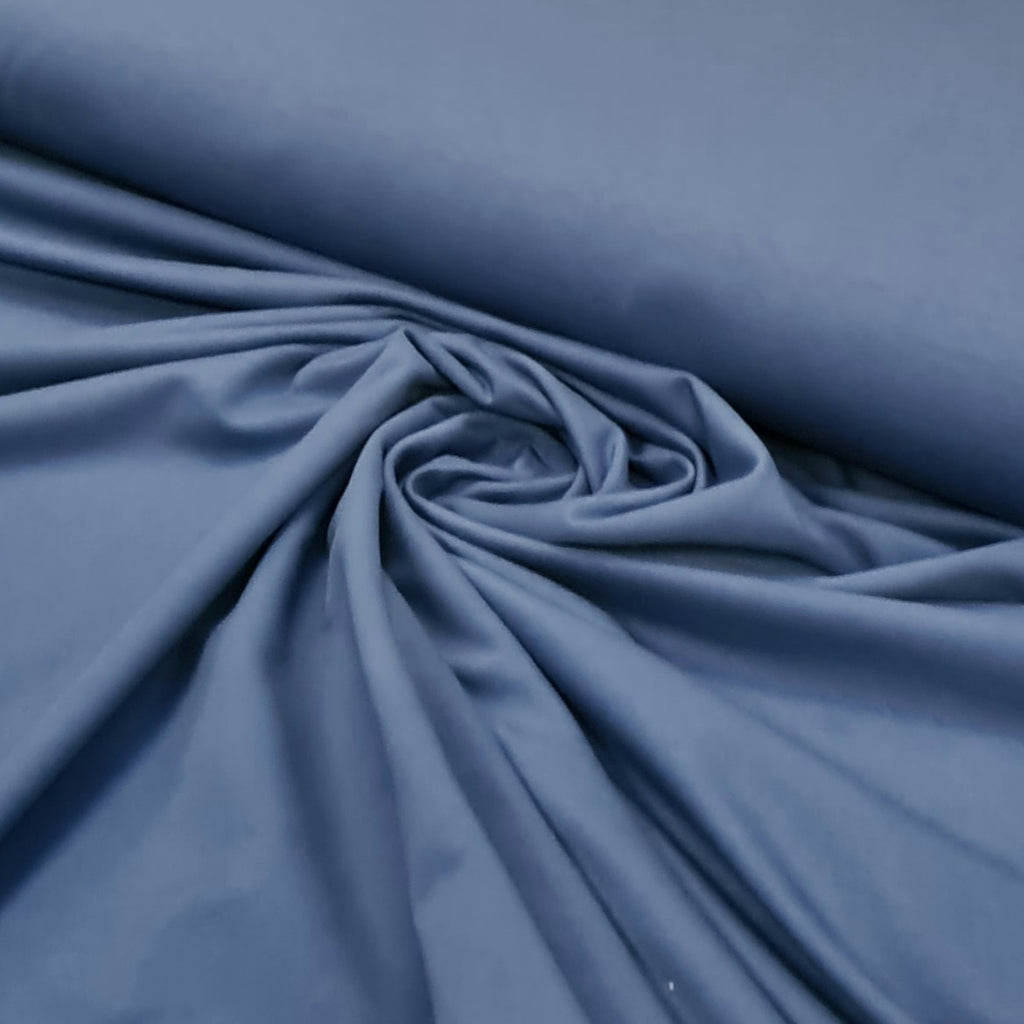 Sapphire Plain French Terry, sold by half metre