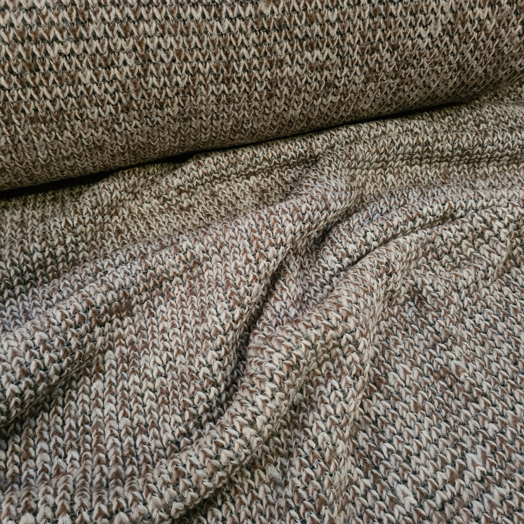 Fawn Chunky Knit, priced by half metre