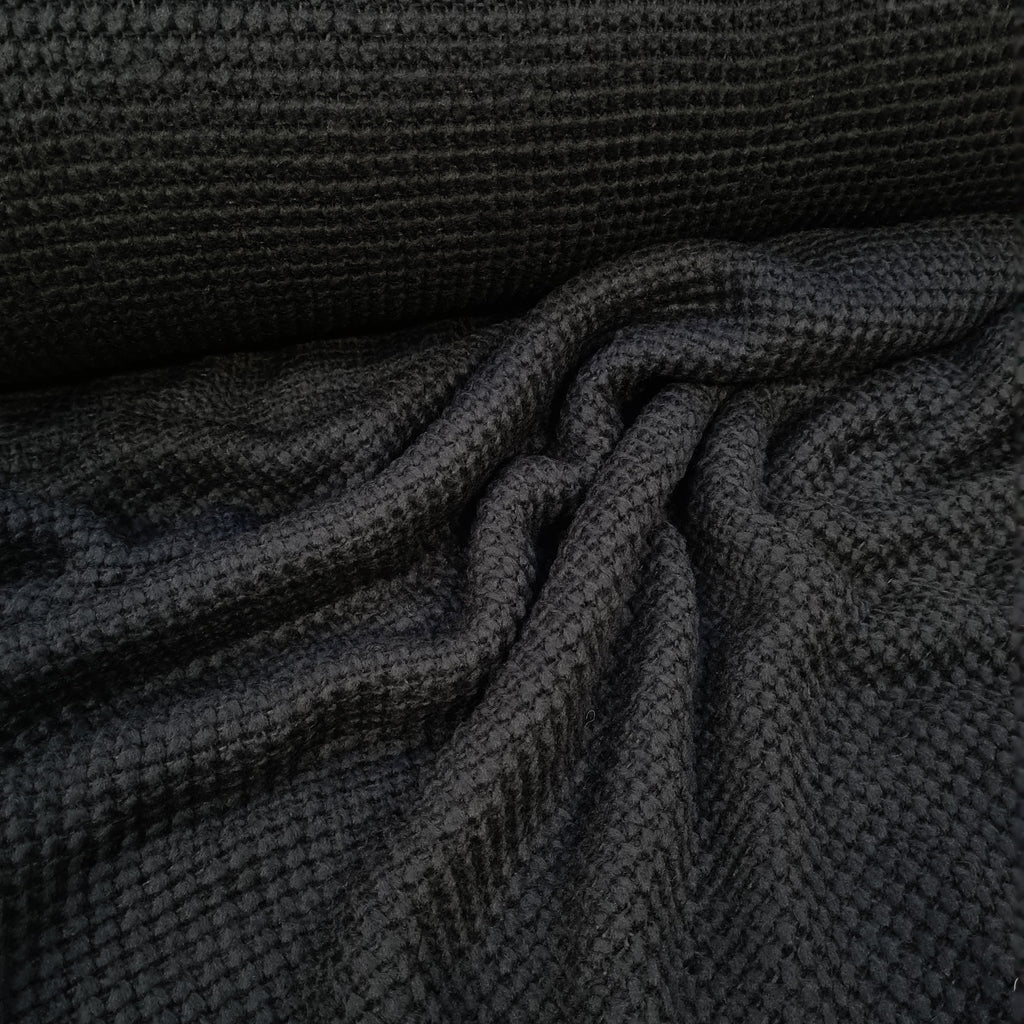 Black Chunky Knit, sold by half metre