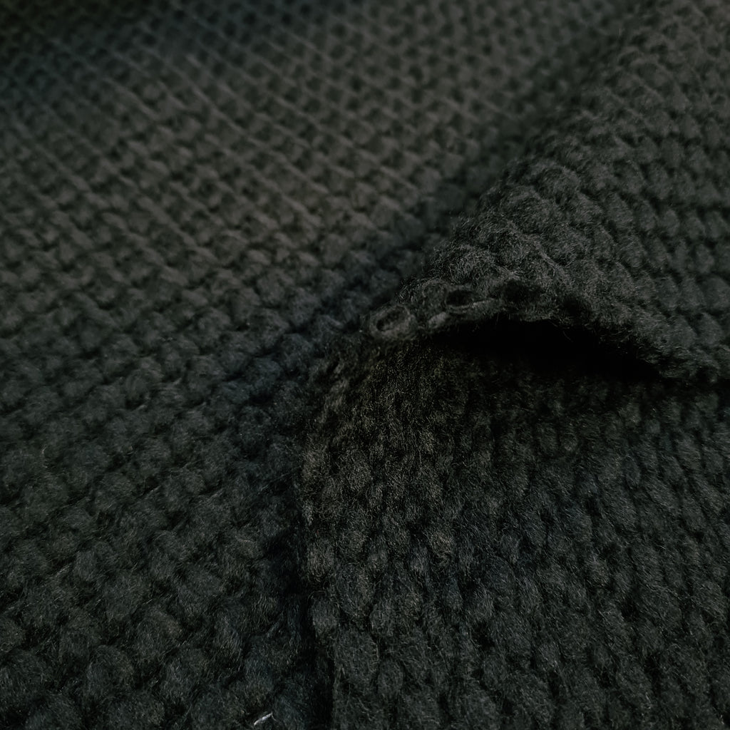 Black Chunky Knit, priced by half metre