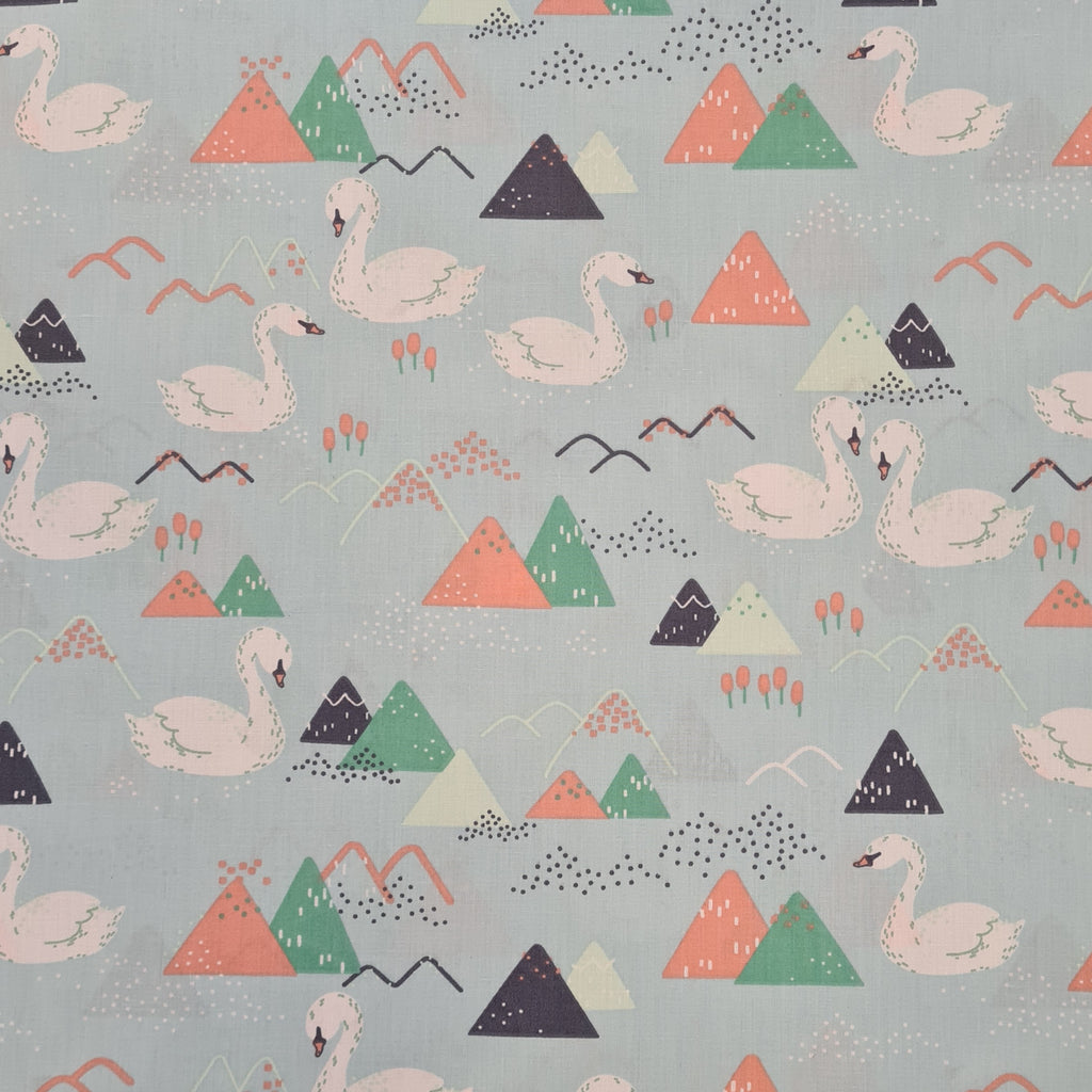 Swans Mint Cotton, sold by half metre