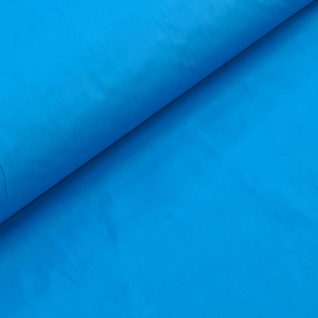 Plain Bright Blue Cotton, sold by half metre