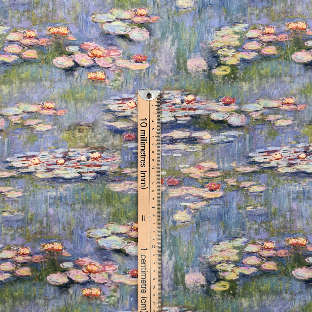 Jersey Claude Monet, priced by half metre