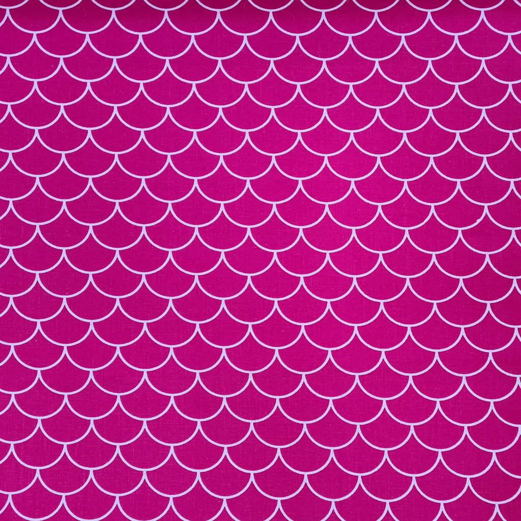 Scales Pink Cotton, sold by half metre