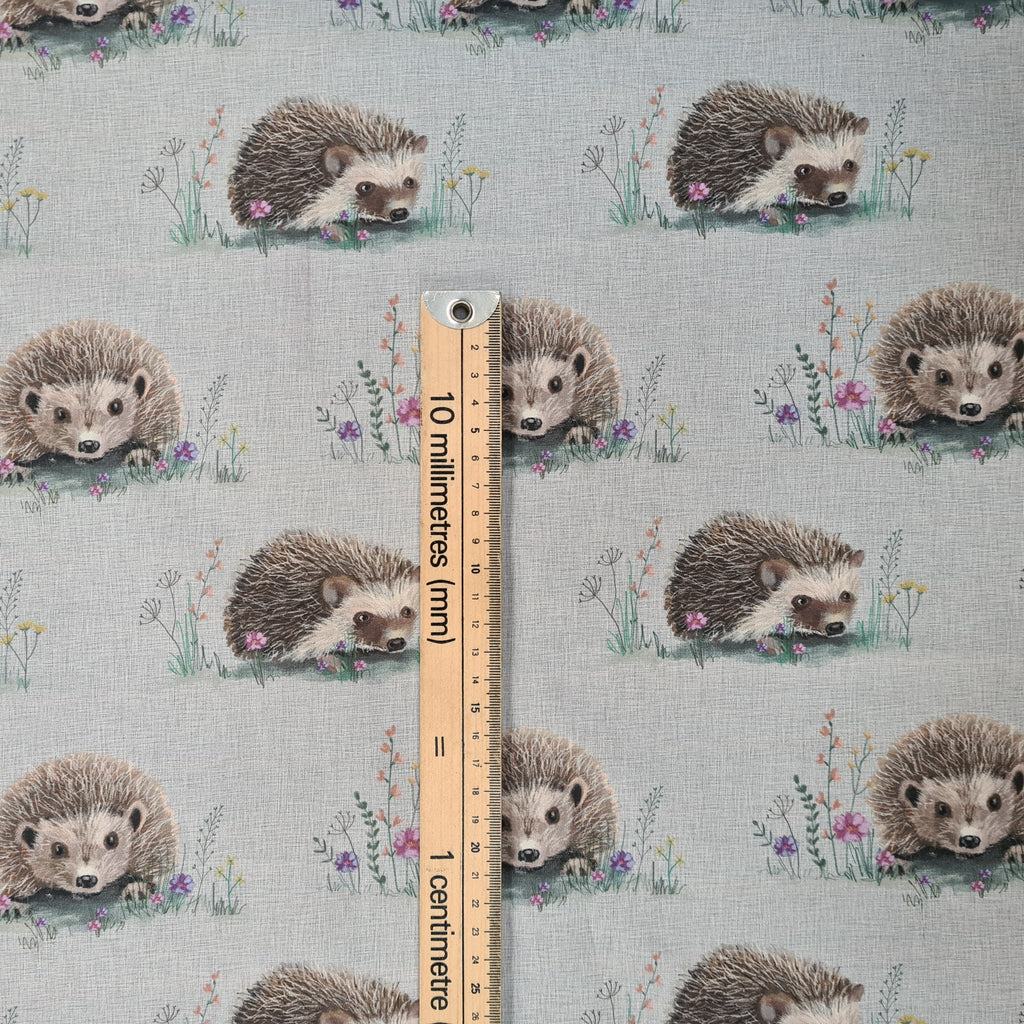 Cotton Hedgehog Grey, priced by half metre