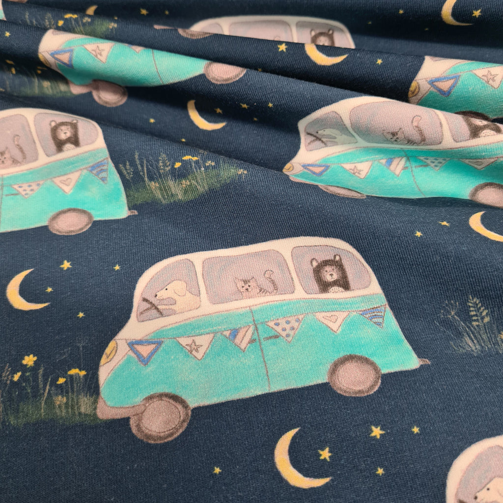 Campervan Adventure Jersey, priced by half metre