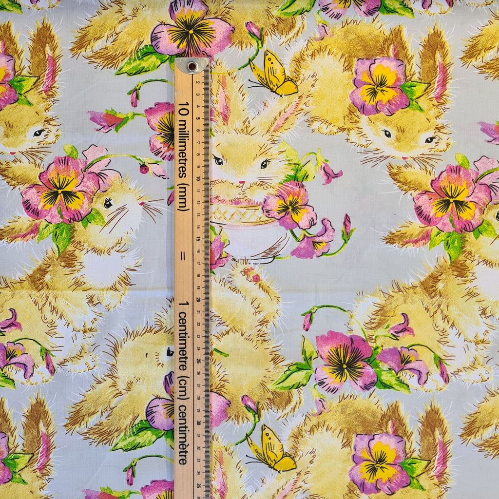 Fluffy Bunnies Cotton, priced by half metre