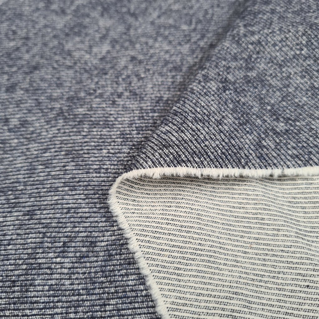 Washed Navy Denim, priced by half metre