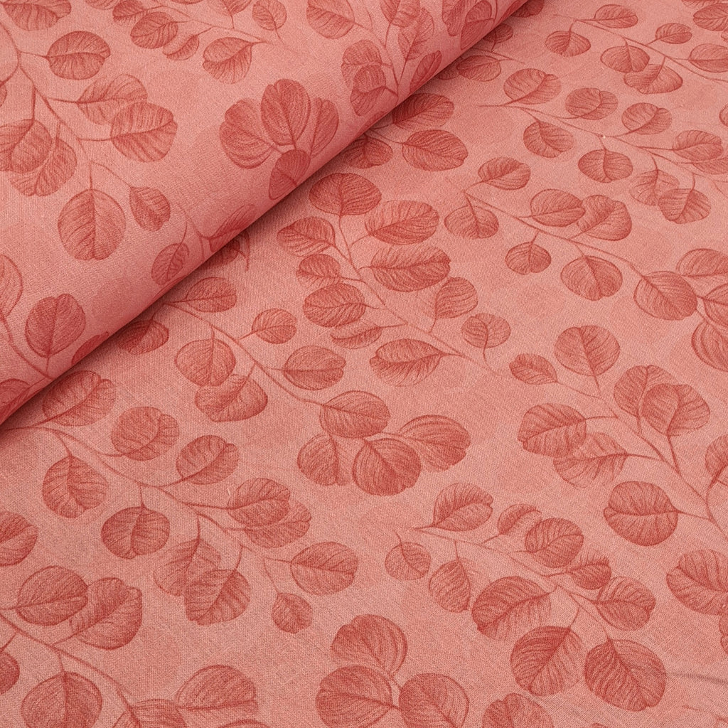 Eucalyptus Pink Dress Linen, priced by half metre