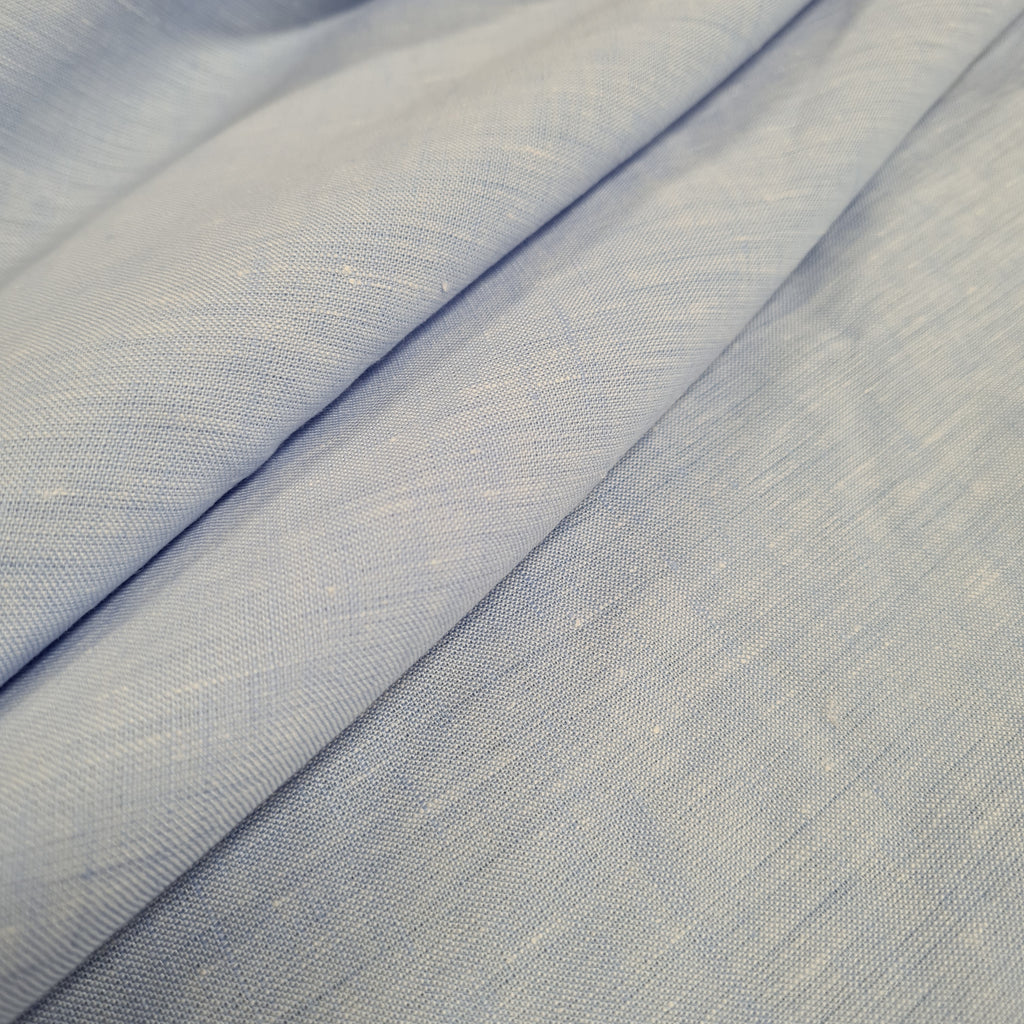 Plain Light Blue Dress Linen, priced by half metre