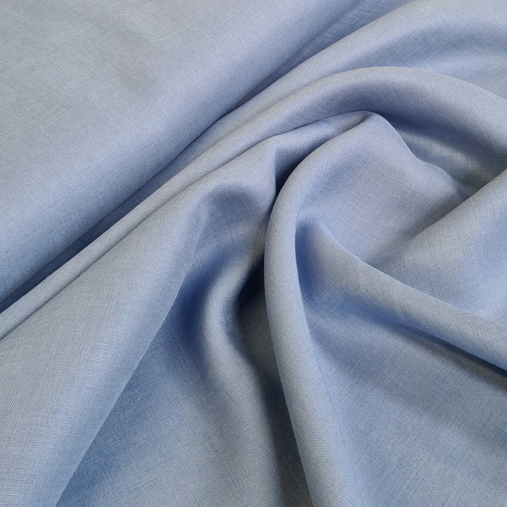 Plain Blue Dress Linen, priced by half metre