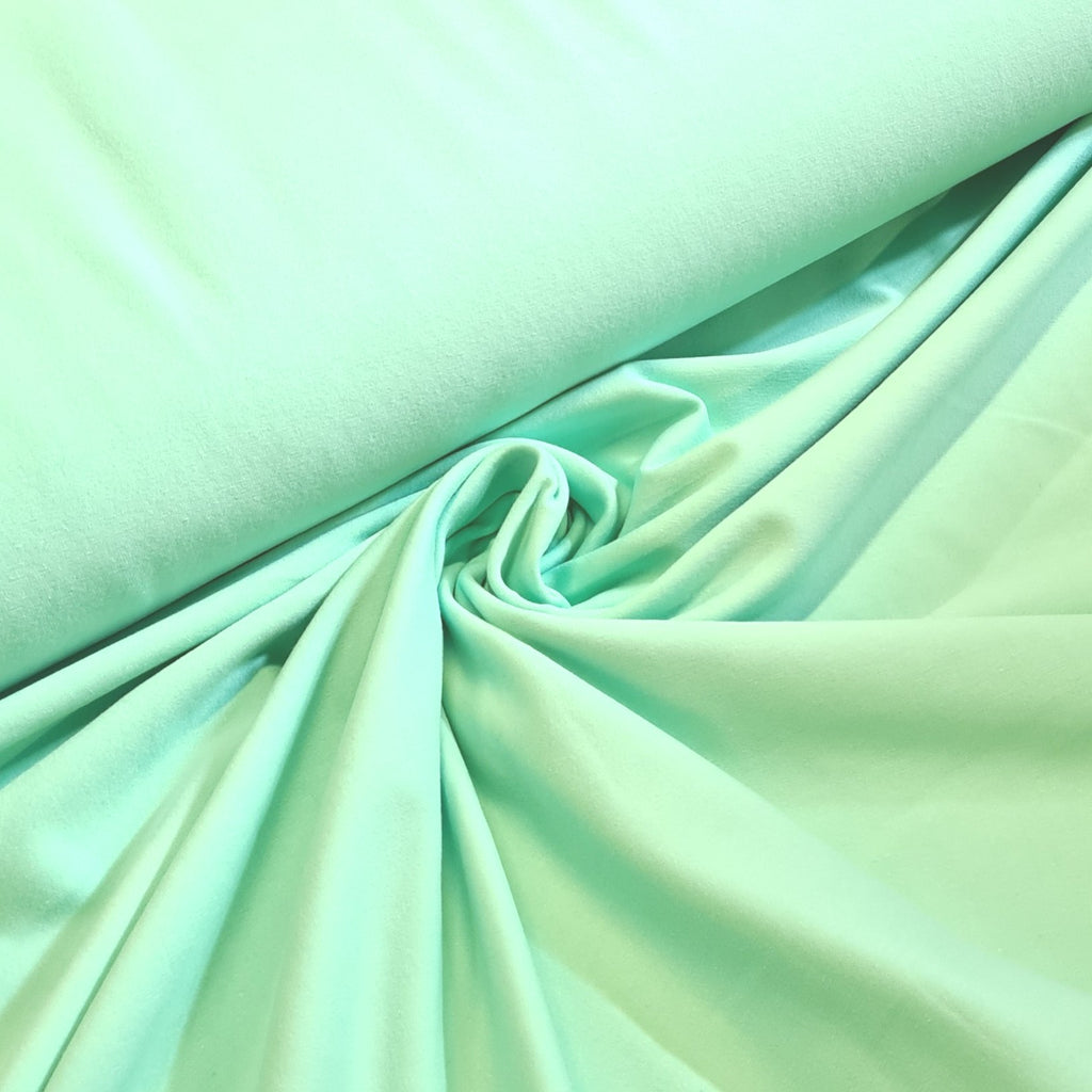 Plain Mint Jersey, priced by half metre
