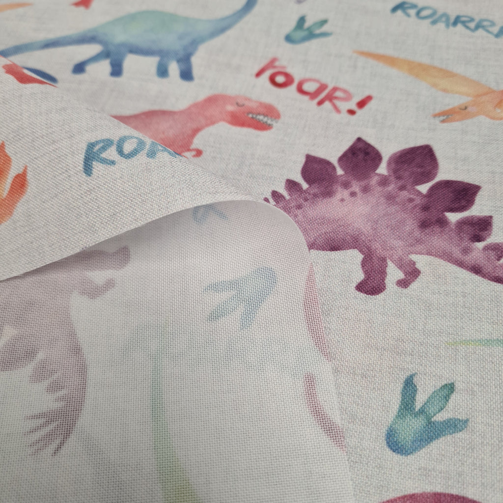 Waterproof Fabric Roarsome Dinos , priced by half metre