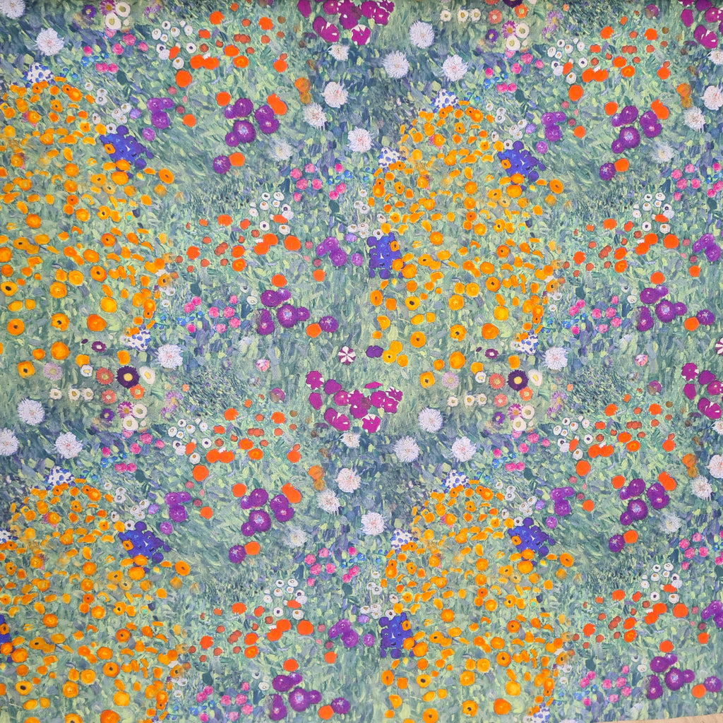 Woven Cotton Gustav Klimt, priced by half metre