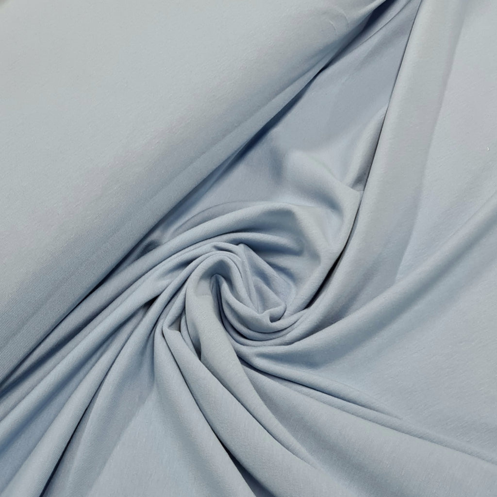 Light Blue Plain Jersey, priced by half metre