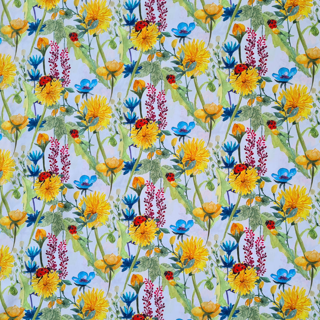 Woven Cotton Summer Meadow, priced by half metre