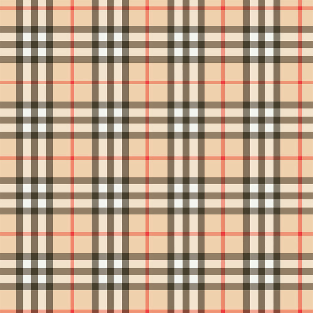 👉 PRE-ORDER 👈 Beige Plaid Jersey, sold by half metre, 17/2
