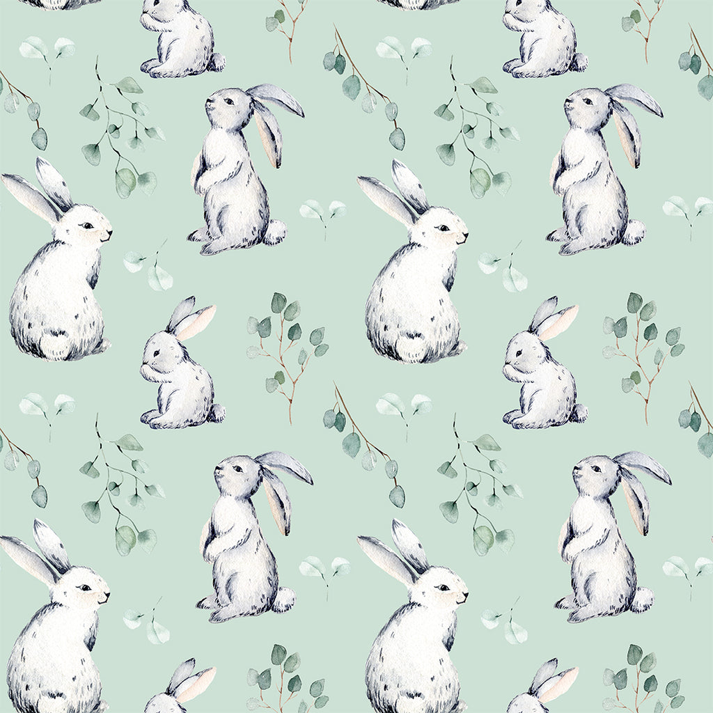 👉 PRE-ORDER 👈 Bunnies Mint Jersey, sold by half metre, 17/2