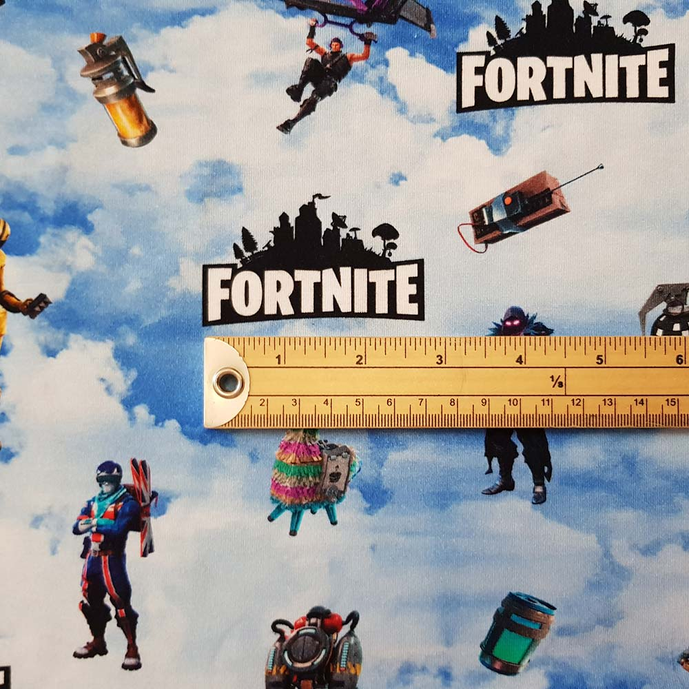 Fortnite Jersey, sold by half metre