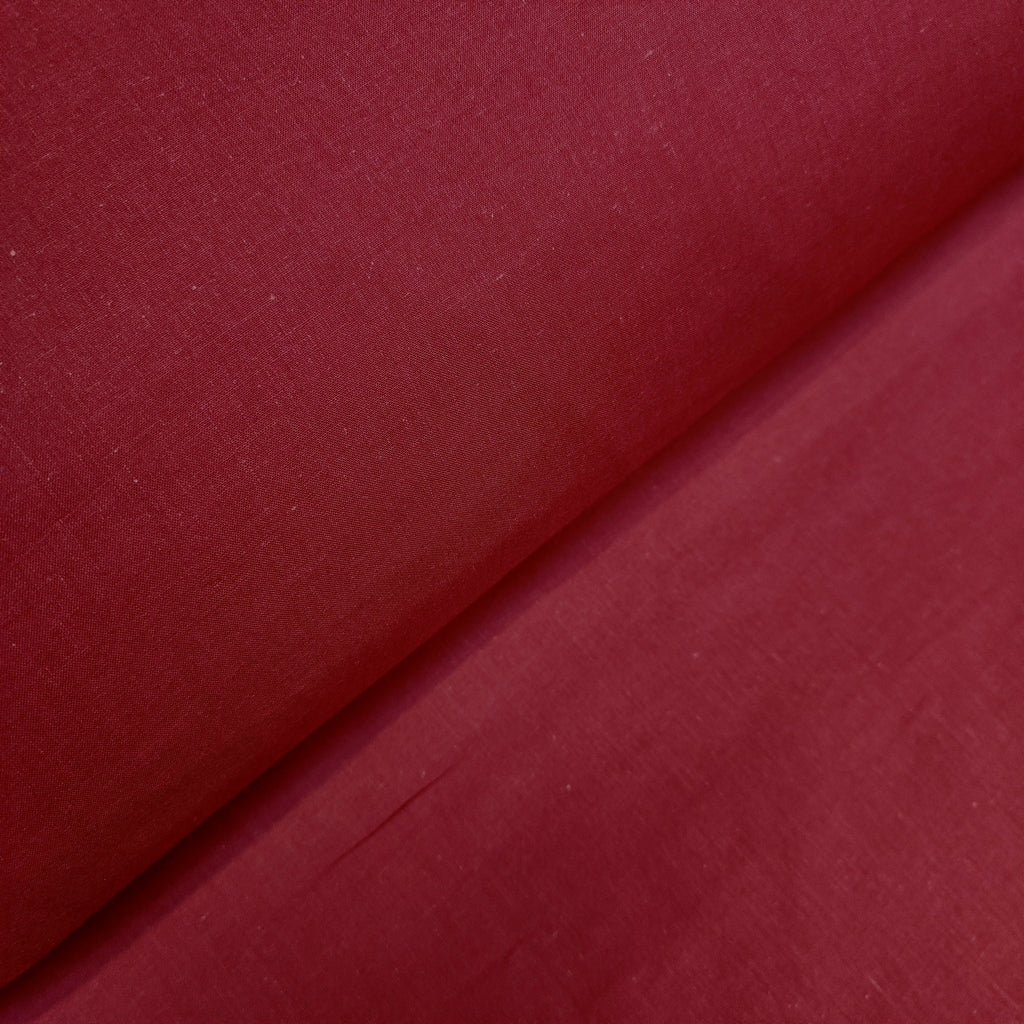 Plain Burgundy Cotton, sold by half metre