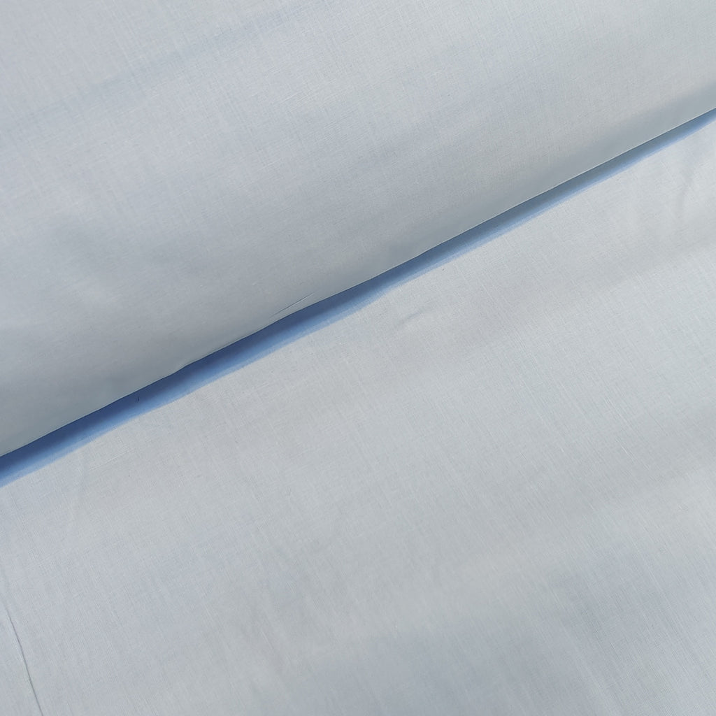 Plain Baby Blue Cotton, sold by half metre