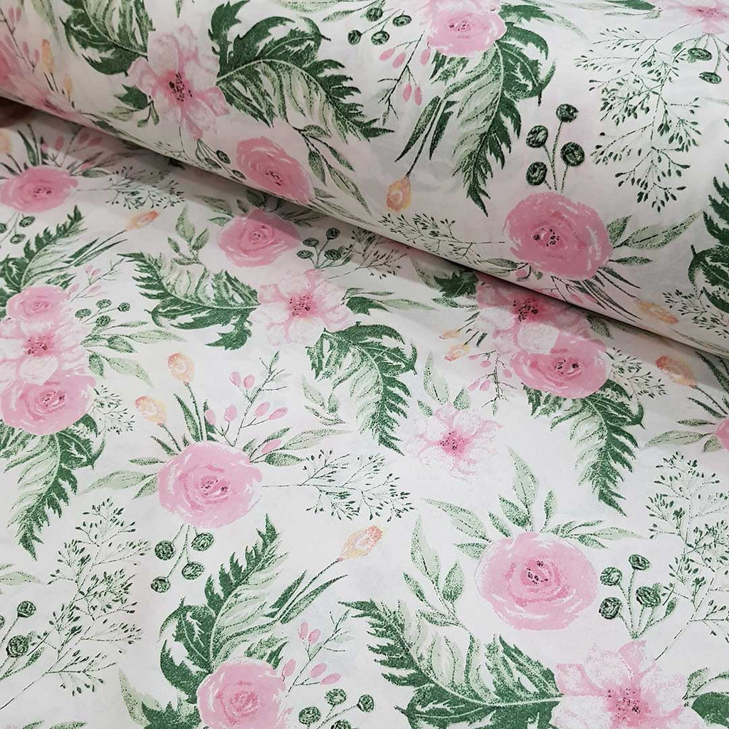Rose Garden Cotton, sold by half metre