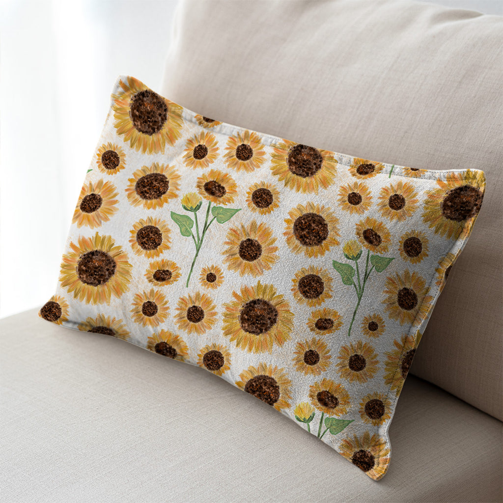Sunflowers Linen Look Decor Fabric, sold by half metre