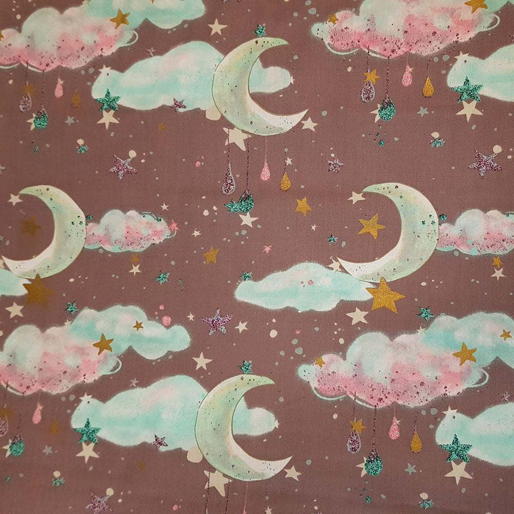 Sweet Dreams Grey Cotton, sold by half metre
