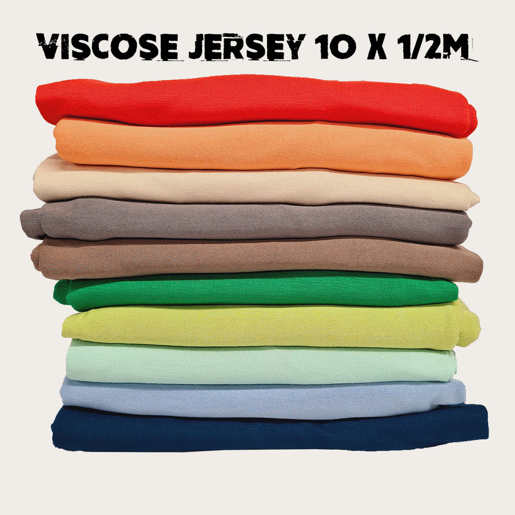 Viscose Jersey Bundle - 10 colours x half metre