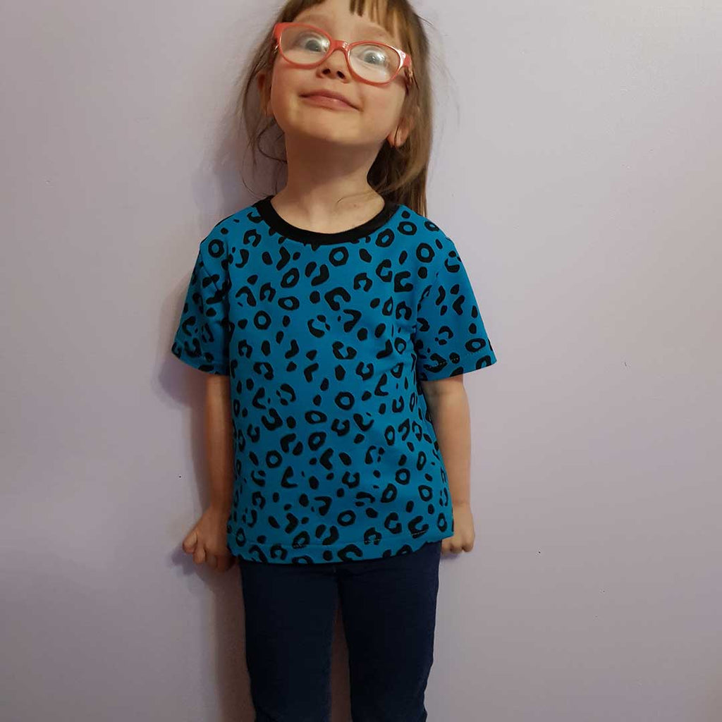 Basic T-Shirt Sewing Pattern Kids 2yrs- 12yrs Printed Pattern