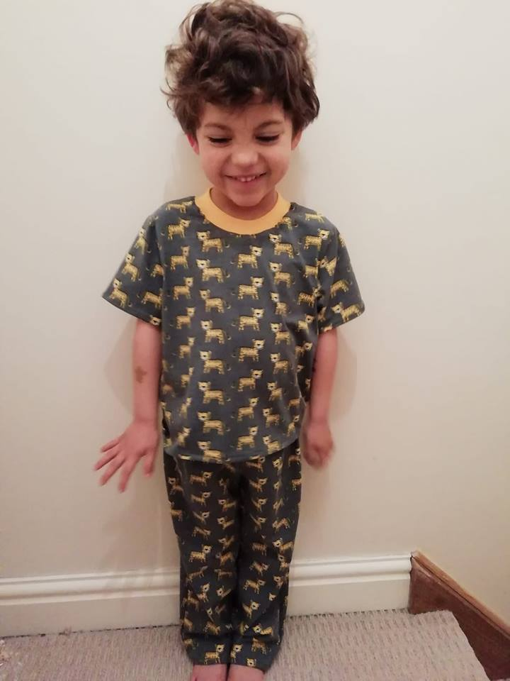 Huggles Pyjama Set Sewing Pattern Kids 2yrs- 14yrs PDF Digital Download