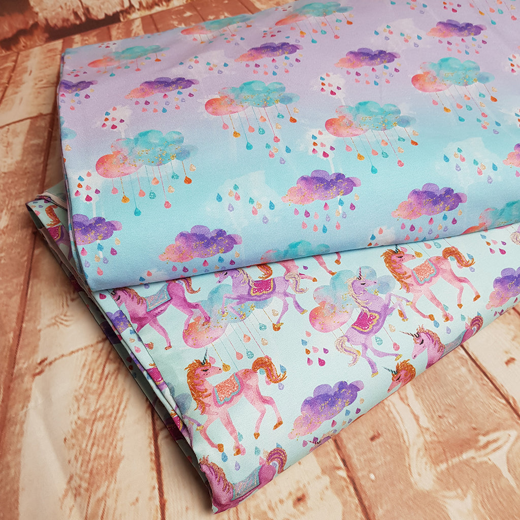 Magic Clouds Single Jersey, sold by half metre