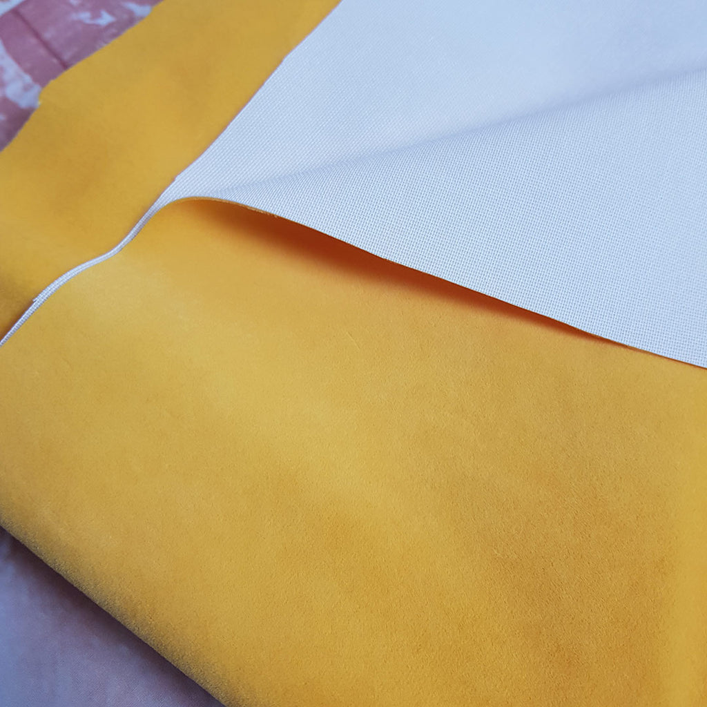 Yellow Upholstery Velvet Fabric, sold by half metre