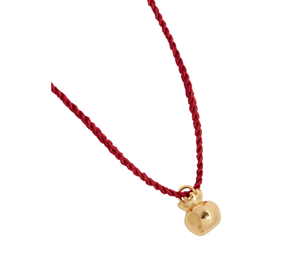 Pomegranate Silk Necklace