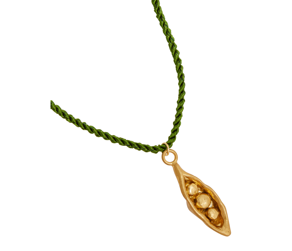 Pea in a Pod Silk Necklace
